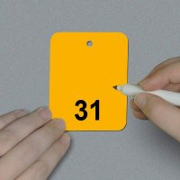 Numbered 26-50 Write-On Tags