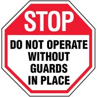 Octagon Labels - Do Not Operate