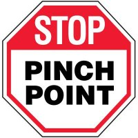 Octagon Labels - Stop Pinch Point
