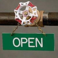 Open - Valve Sprinkler Sign