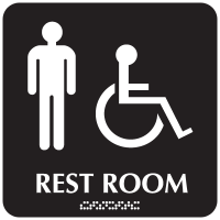 Rest Room (Men/Accessibility) - Optima ADA Restroom Signs