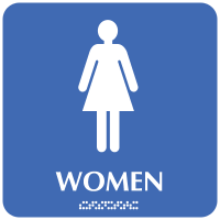Women - Optima ADA Restroom Signs