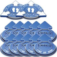 3D Social Distancing Label Kit for Outdoors - Blue