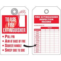 Fire Extinguisher PASS Tag