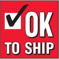 Ok To Ship Handling Label