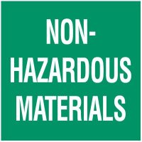 Non-Hazardous Materials Package Handling Label