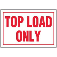 Top Load Package Handling Label