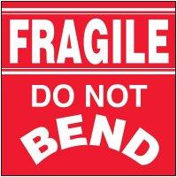 Fragile Do Not Bend Package Handling Label