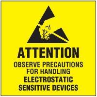Electrostatic Sensitive Devices Package Handling Label