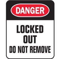 Padlock Labels - Danger Locked Out