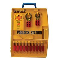 Padlock Station w/10 Safety Padlocks