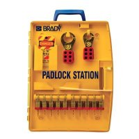 Padlock Station w/10 Steel Padlocks