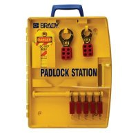 Brady® Padlock Station w/5 Safety Padlocks