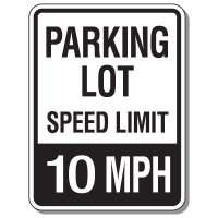 Parking Lot Speed Limit Signs - 10 MPH