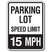 Parking Lot Speed Limit Signs - 15 MPH