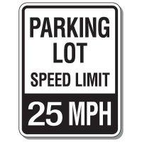 Parking Lot Speed Limit Signs - 25 MPH
