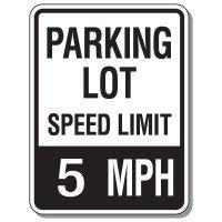 Parking Lot Speed Limit Signs - 5 MPH