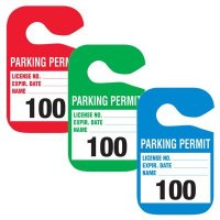 Parking Permit - Cardstock Hanging Parking Permits