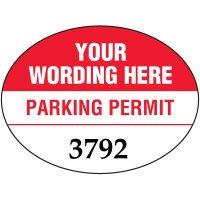 "Custom 1-1/2"" x 2"" Oval Mirror Mount Parking Permits"