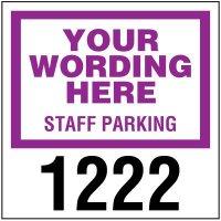"Custom 3"" x 3"" Window-Mount Parking Permits"