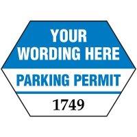 "Custom 1-3/4"" x 2-1/2"" Mirror Mount Parking Permits"