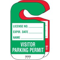 Hanging Cardstock Visitor Parking Permits