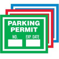 Unnumbered Self-Cling Parking Permits