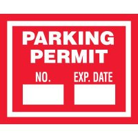 Numbered Self-Cling Parking Permits