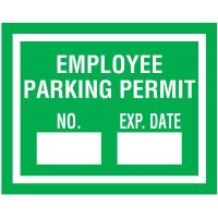 Self-Cling Employee Parking Permits