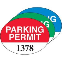 Oval Self-Cling Parking Permits