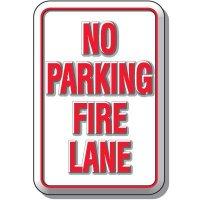 3-D No Parking Fire Lane Sign