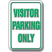 3-D Visitor Parking Only Sign