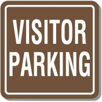 Contemporary Visitor Parking Sign