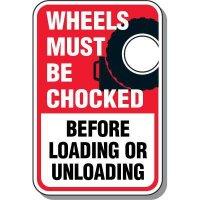 Wheel Chock Sign