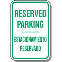 Bilingual Reserved Parking Sign