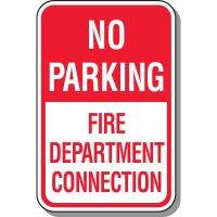 No Parking Fire Department Sign