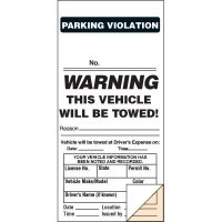 This Vehicle Will Be Towed Parking Ticket