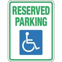Pavement Message Signs - Reserved Handicap Parking
