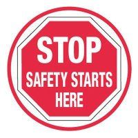 Pavement Message Signs - Stop Safety Starts Here