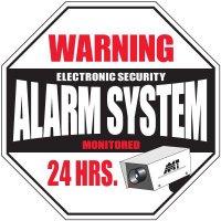 Warning Alarm System Signs
