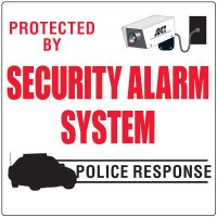 Security Alarm System Signs