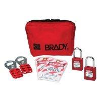 Brady 99290 Personal Padlock Pouch With Brady Safety Padlocks - Kit