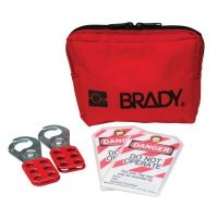 Brady 99292 Personal Padlock Pouch With Brady Steel Padlocks - Kit