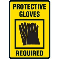 Protective Gloves Required Wear Floor Label