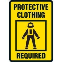 Protective Clothing Required Floor Label