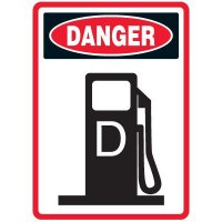 Pictogram Mining Sign - Diesel Fuel