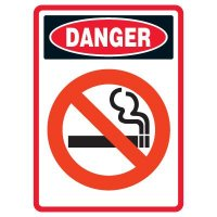 Pictogram Mining Sign - No Smoking