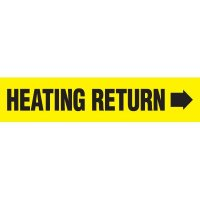 Heating Return With Arrow Pipe Markers