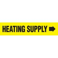 Heating Supply With Arrow Pipe Markers