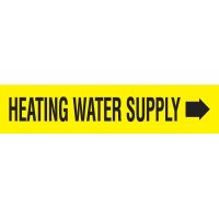 Heating Water Supply With Arrow Pipe Markers